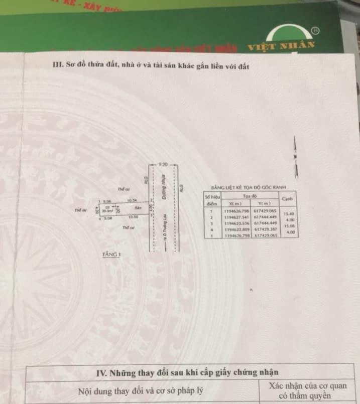 Chính chủ kẹt tiền bán gấp lô đất đường Trường Lưu, giá chỉ 2,45 tỷ, 61m2, liên hệ: 0908534292